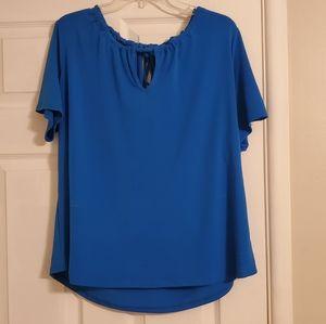 Worthington Blue Tie Back Top